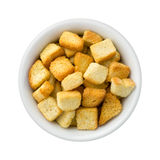 Croutons in a Ceramic Bowl Royalty Free Stock Images