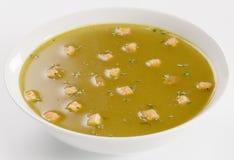 croutons czosnku polewka Zdjęcie Stock