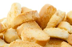 Croutons des Brotes Stockfoto