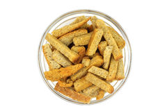 Croutons in a glass Stock Images