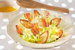 Croutons salad stock photography