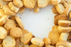 Croutons van brood Stock Foto's
