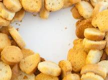 Croutons van brood Stock Fotografie