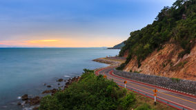 Crove road in view point beside the sea Stock Image