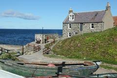 Crovie Aberdeenshire - Skottland Royaltyfri Foto