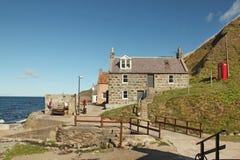 Crovie Aberdeenshire - Skottland Royaltyfri Bild
