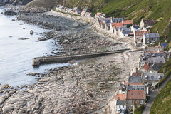 Crovie on the Moray Firth in Scotland. stock images