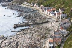 Crovie op Moray Firth in Schotland stock afbeeldingen