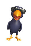 Crow cartoon character with sunglass Royalty Free Stock Photography