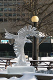 Crow eagle ice sculpture at Ottawa`s Winterlude Royalty Free Stock Photos
