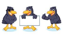 Crow Mascot vector happy Royalty Free Stock Image
