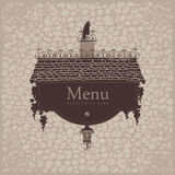 Crow menu Royalty Free Stock Images
