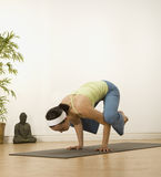 Crow Pose Royalty Free Stock Images