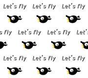 Crow seamless pattern Stock Image