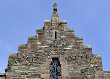 Crow-stepped gable in Conwy Royalty Free Stock Photo