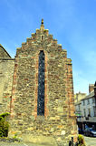 Crow-stepped gable end in Conwy Stock Image