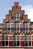 Crow-stepped gable in Leiden, Netherlands Royalty Free Stock Image