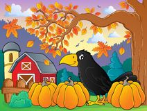 Crow theme image 2. Eps10 vector illustration Royalty Free Stock Photos