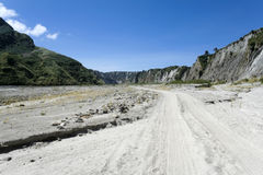 Crow valley dirt road background philippines Royalty Free Stock Photo