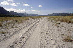 Crow valley sand road mount pinatubo philippines Stock Images