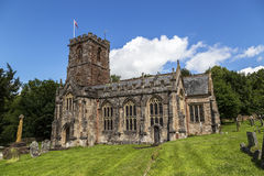 Crowcombe church. Crowcombe, Somerset, England, UK - JULY 7th 2015, showing Crowcombe church in the centre of Crowcombe village by Taunton, Somerset UK Royalty Free Stock Images