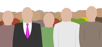 Crowd. Big crowd of people in white background. Businessmen Royalty Free Stock Images