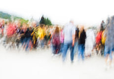Crowd. Hurrying crowd of people. Abstract picture Royalty Free Stock Photos