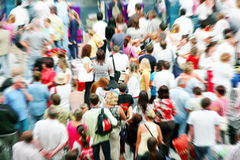 Crowd. Of people at airport Royalty Free Stock Photos