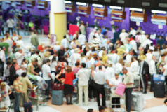 Crowd. Of people at the airport Royalty Free Stock Photo