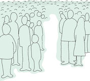 Crowd of Abstract People Stock Image