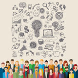 The crowd of abstract people. Stock Photo
