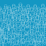 The crowd of abstract people. Stock Photos