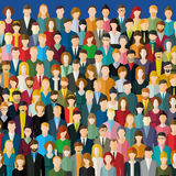 The crowd of abstract people. Stock Image