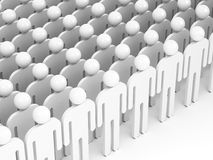 Crowd of abstract white people. 3d render Stock Photo