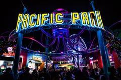 Crowd at amusement park Stock Photos