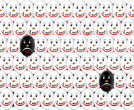 Crowd of amusing personages which wants and don`t Royalty Free Stock Photography