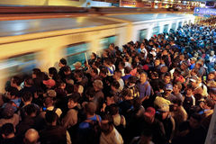 Crowd And Subway Stock Image