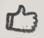 Crowd as the like symbol Stock Image