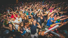 Free Crowd At A Rave Royalty Free Stock Images - 138584569