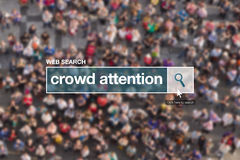 Crowd attention web search box Stock Photos