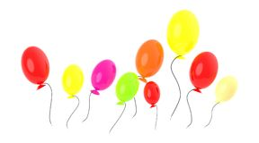Crowd of balloons - 3d rendering royalty free illustration
