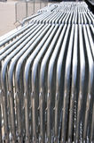 Crowd Barriers close up Stock Photo