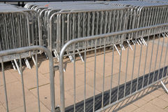 Crowd Barriers close up. Metal crowd barriers close up Stock Image