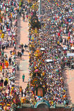 Crowd At Batu Cave Thaipusam Festival Royalty Free Stock Photo