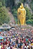 Crowd At Batu Cave During Thaipusam Festival Royalty Free Stock Photos