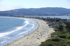 Crowd on a beach. A weekend crowd enjoys Stinson Beach, Marin County, California Royalty Free Stock Image