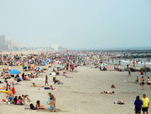 Crowd at the Beach Royalty Free Stock Images