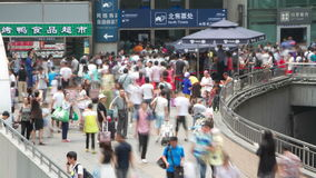 Crowd in Beijing west railway station at daytime HD. Royalty Free Stock Photos