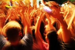 Crowd in blur. At a rock concert. Crowd in long motion blur Royalty Free Stock Photo