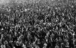 Crowd of blurred people Royalty Free Stock Photos
